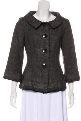Alberta Ferretti Coated Wool Jacket