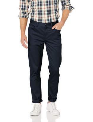 Perry Ellis Men's Slim Fit Stretch 5-Pocket Stain Repellent Twill Pant