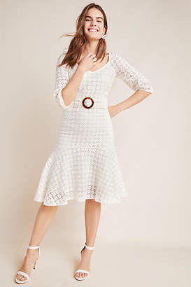 Maeve Belted Eyelet Dress