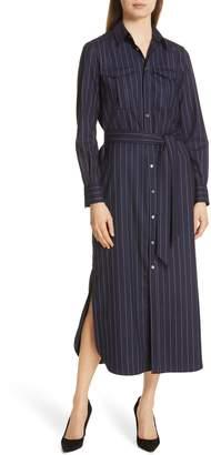 55c2d63b83 Polo Ralph Lauren Pinstripe Midi Shirtdress