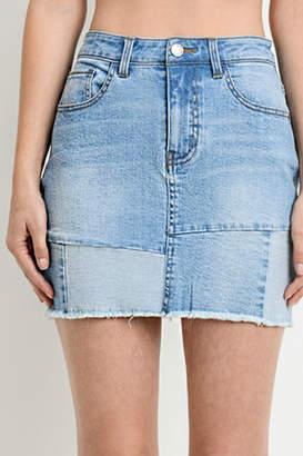 R+D Emporium Patched-Up Denim Skirt