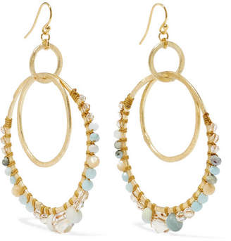 Chan Luu Gold-tone, Amazonite And Crystal Earrings