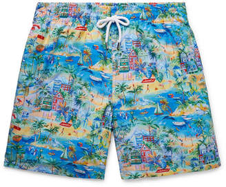 Derek Rose Wide-Leg Mid-Length Printed Swim Shorts