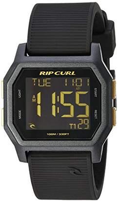 Rip Curl Men's 'Atom' Quartz Plastic and Silicone Sport Watch