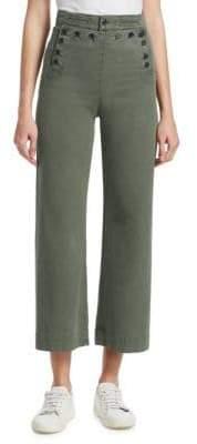 A.L.C. Women's Pierce Button-Front Pants - Army - Size 4
