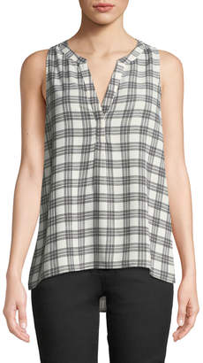 Joie Aruna Checkered Sleeveless Blouse