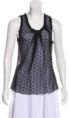 Marc Jacobs Sleeveless Floral Embroidered Top