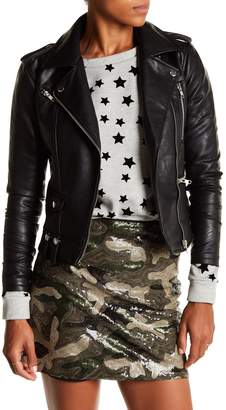 Romeo & Juliet Couture Multi Zip Faux Leather Moto Jacket