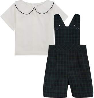 Rachel Riley Check Dungarees and Shirt Set