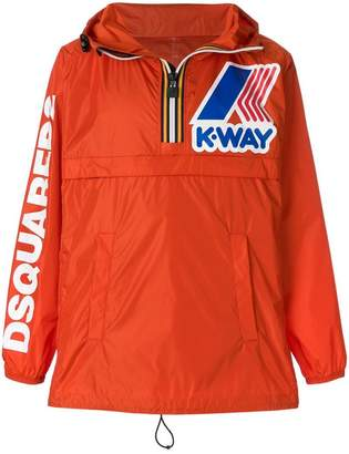 DSQUARED2 K-WAY hooded jacket