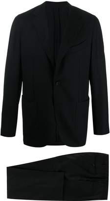 Caruso fitted plain blazer