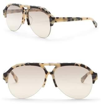 Stella McCartney 57mm Chain Aviator Sunglasses