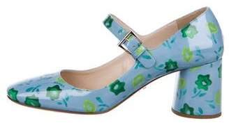 Prada Floral Mary Jane Pumps w/ Tags