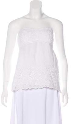 Lilly Pulitzer Strapless Eyelet Top