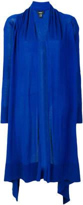 DKNY asymmetric open front cardigan