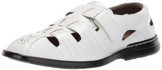 Stacy Adams Men's Argosy Closed-Toe Fisherman Velcro Sandal White 9 M US