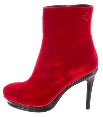 A.F.Vandevorst A.F. Vandevorst Velvet Platform Ankle Boots w/ Tags