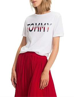 Tommy Hilfiger Stripe Injection Tommy Stripe Graphic Tee