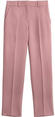 Burberry Straight Fit Wool Blend Tailored Trousers