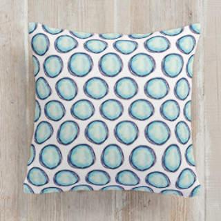 lunar polka dots Self-Launch Square Pillows