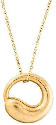 Tiffany & Co. 18K Eternal Circle Pendant Necklace