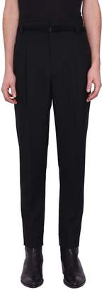 Haider Ackermann Calder Black High Waist Wool Trousers