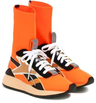 Victoria Beckham Reebok x Bolton Sock leather-trimmed sneakers