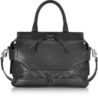 Rag & Bone Black Leather Pilot Satchel Bag