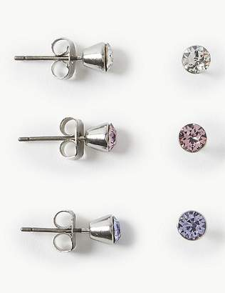 Marks and Spencer 3 Pack Earrings With Swarovski® Crystals