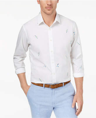 Club Room Men's Bird-Print Shirt, Created for Macy's