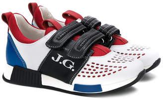 John Galliano color block sneakers