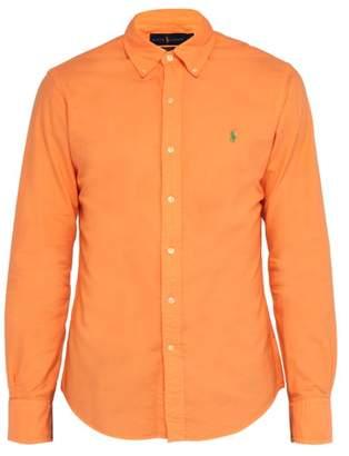 Polo Ralph Lauren Slim Fit Cotton Oxford Shirt - Mens - Orange