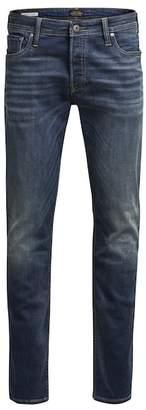 "Jack and Jones Glenn Original Straight Leg Jeans - 30-34\"" Inseam"