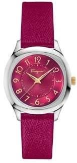 Salvatore Ferragamo Time Stainless Steel Strap Watch