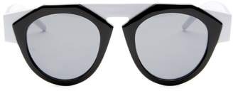 Smoke X Mirrors x FIORUCCI Black & White Round Sunglasses