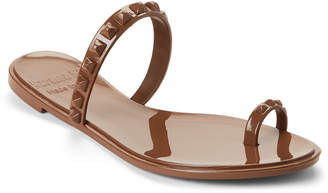 Carmen Sol Brown Studded Jelly Sandals