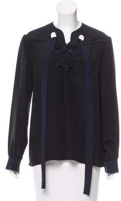 Derek Lam Sarah Lace-Up Blouse