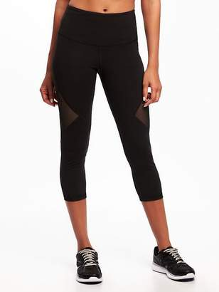 Old Navy High-Rise Mesh-Panel Elevate Compression Crops for Women