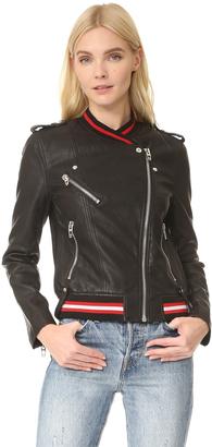 Blank Denim Frisky Business Moto Jacket $148 thestylecure.com