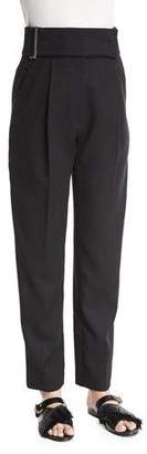 Jason Wu High-Waist Pleated-Front Pants, Black $1,265 thestylecure.com