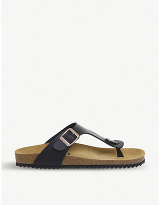 Office Identity 2 backless faux-leather sandals