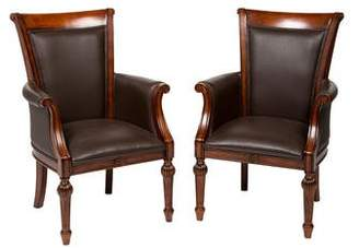 Pair of Vegan Leather Armchairs