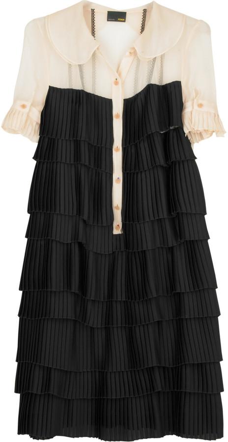 Fendi Multi-tiered flapper dress