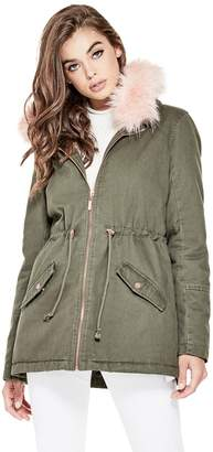 Factory Guess Women's Melly Hooded Parka