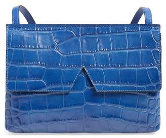 Vince 'Small' Croc Embossed Leather Crossbody Bag