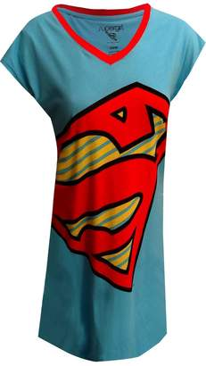 Briefly Stated DC Comics SuperGirl Logo Nightshirt for women (One Size)