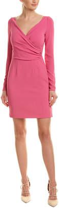 Dolce & Gabbana Wrap Front Silk-Blend Sheath Dress