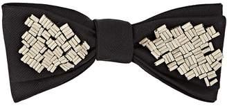 Title of Work Men's Beaded Silk Twill Bow Tie
