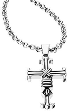 Police Men Stainless Steel Pendant Necklace - PJ25709PSS.01