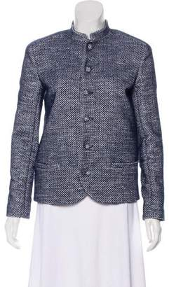 Julien David Woven Stand Collar Jacket